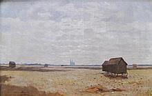 Ecole du XXe siècle. La plaine de Chartres. Huile