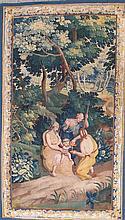 Panneau de fine tapisserie d'Aubusson milieu XVII