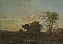 Pierre CATRUFO (Genève-Paris1854). Paysage avec be