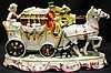 Horse and Carriage porcelain figurine