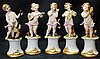 Early Capodimonte set of 5 Musicians figurines
