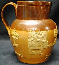 Royal Doulton relief stoneware pitcher