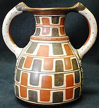La Serena South American vase with two handles
