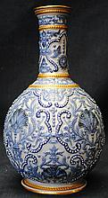 Antique vase with relief design