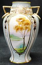 Wonderful Nippon hand painted vase