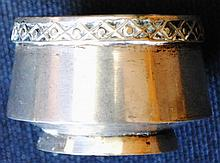 Imperial Russian 84 silver open salt with spoon