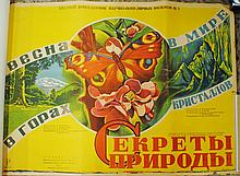 "Russian Mikhail Dlugatch 1947 poster ""Spring in Mountains"""
