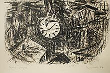 "Grigori Israilevich (Russian, 1924 – 1999) ""Time is Flying"" lithograph"