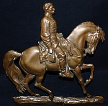 "John Quincy Adams Ward (1830 – 1910) ""General George Brinton McClellan"" bronze plaque"