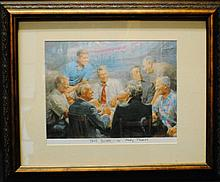 "Andy Thomas ""True Blues"" US Presidents print"