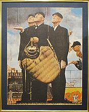 "Norman Rockwell ""Bottom of the Sixth"" large print"