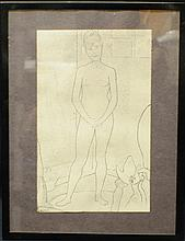 "Georges Pierre Seurat (1859 – 1891) ""Study to ""Models"" painting"""
