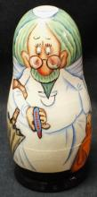 "Russian 5 pcs. Nesting doll "" Jewish Doctor"""