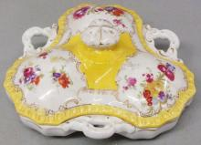 Covered porcelain dish, probably Maissen