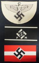 Lot of 3 German Nazi arm bands