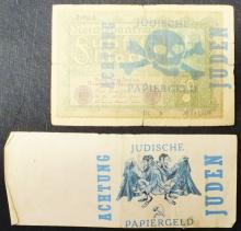 Pair of German Nazi Anti-Semitic Banknotes