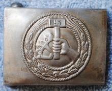 German Nazi Labor Front Leader belt buckle
