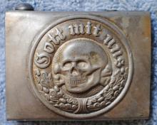 German Nazi SS Tottenkopf  belt buckle