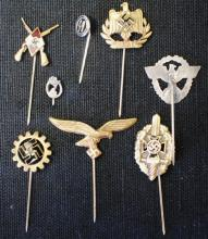 Lot of 8 German Nazi stickpins