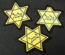 "Group of 3 Holocaust ""Star of David"""