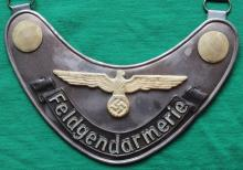 WWII German Nazi Army Fieldgendarm gorget