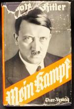 "German Nazi 1942 ""Mein Kampf"" book from SS School library"