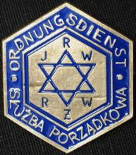WWII Nazi Warsaw Ghetto police badge