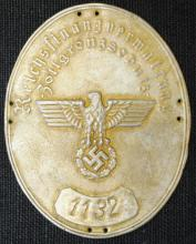 German Nazi Reichsbank  plaque