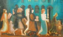 "Irina Lavrova (Russian, 1931 – 1999) ""Walking with Candles"""