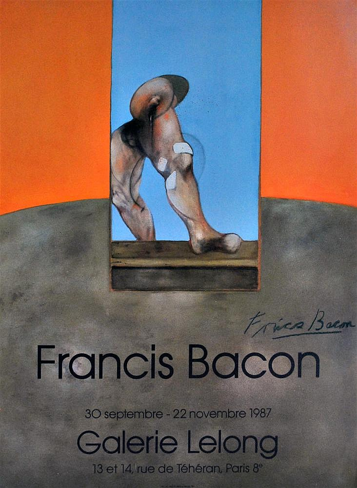 FRANCIS BACON - Original color offset lithograph poster