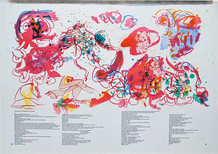 PIERRE ALECHINSKY - Color lithograph