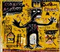 JEAN-MICHEL BASQUIAT [BY OR ATTRIB] - Oil on paper