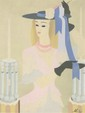 MARIE LAURENCIN [BY OR ATTRIB] - Gouache and watercolor on paper, Marie Laurencin, &#x0024;4,000