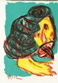 KAREL APPEL - Color lithograph, Karel Appel, &#x0024;250