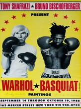 JEAN-MICHEL BASQUIAT & ANDY WARHOL - Original color offset lithograph