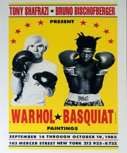 JEAN-MICHEL BASQUIAT & ANDY WARHOL - Color offset lithograph