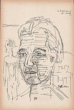 ERNST LUDWIG KIRCHNER - Pen and ink drawing