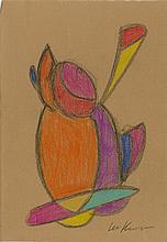 LEE KRASNER - Conte crayon on paper