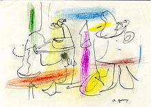 ARSHILE GORKY - Crayon and ink on paper