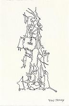 YVES TANGUY - Pen and ink drawing on paper