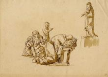 ITALIAN SCHOOL, [17TH-18TH CENTURY] - Pen and ink with wash drawing