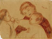 PIERRE-AUGUSTE RENOIR [by or attrib] - Pastel on paper