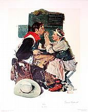 NORMAN ROCKWELL - Original color collotype and lithograph
