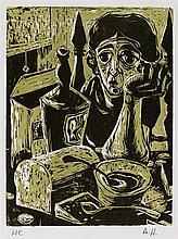 ALVIN HOLLINGSWORTH - Original color woodcut