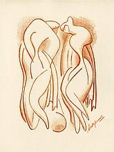 ALEXANDER ARCHIPENKO - Original color lithograph