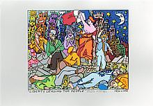 JAMES RIZZI - Color silkscreen, lithograph, and collage