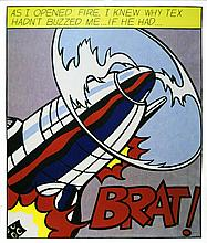 ROY LICHTENSTEIN - Original color lithograph and offset lithograph [3 prints - triptych]