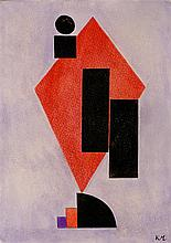 KASIMIR MALEVICH - Gouache on buff paper