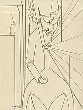 ALBERTO MAGNELLI - Original pencil drawing