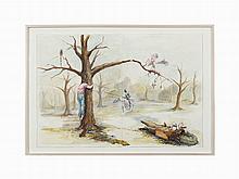 Bryan Crockett, Watercolor, Solipsist I, USA, 2004